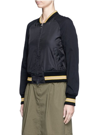 Front View - Click To Enlarge - 3.1 Phillip Lim - Flocked animal print panelled bomber jacket