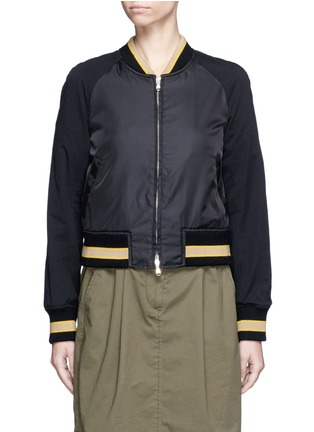 Main View - Click To Enlarge - 3.1 Phillip Lim - Flocked animal print panelled bomber jacket