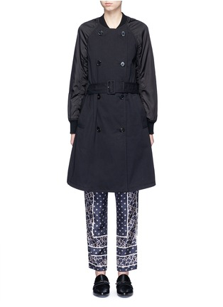 Main View - Click To Enlarge - 3.1 PHILLIP LIM - Twill nylon combo bomber trench coat
