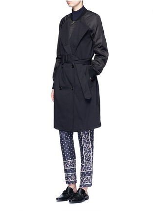 Figure View - Click To Enlarge - 3.1 PHILLIP LIM - Twill nylon combo bomber trench coat