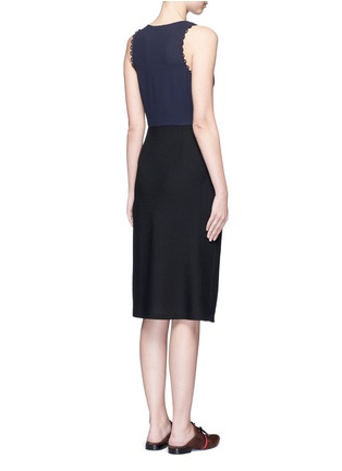 Back View - Click To Enlarge - 3.1 Phillip Lim - Loop trim mock wrap dress