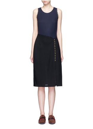 Main View - Click To Enlarge - 3.1 Phillip Lim - Loop trim mock wrap dress
