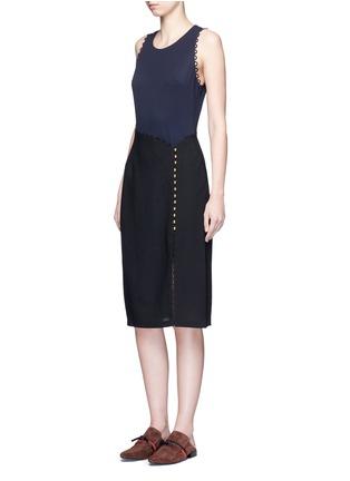 Figure View - Click To Enlarge - 3.1 Phillip Lim - Loop trim mock wrap dress