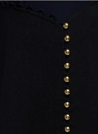 Detail View - Click To Enlarge - 3.1 PHILLIP LIM - Crepe hopsack combo button shirt dress