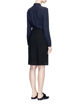 Back View - Click To Enlarge - 3.1 PHILLIP LIM - Crepe hopsack combo button shirt dress