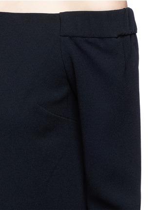 Detail View - Click To Enlarge - Tibi - Off-shoulder crepe culotte jumpsuit