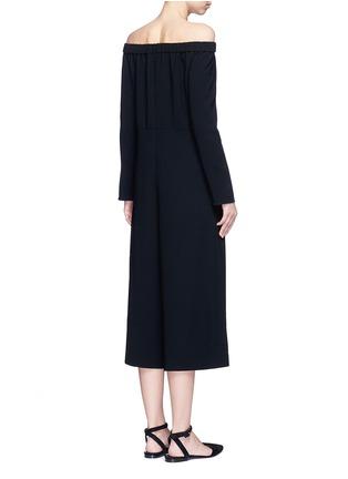 Back View - Click To Enlarge - Tibi - Off-shoulder crepe culotte jumpsuit