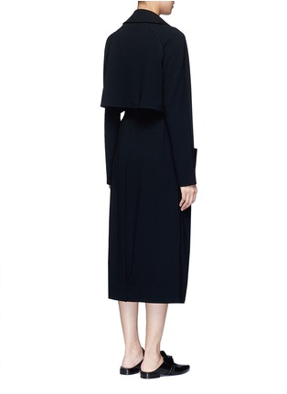 Back View - Click To Enlarge - Tibi - Soft crepe belted trench coat