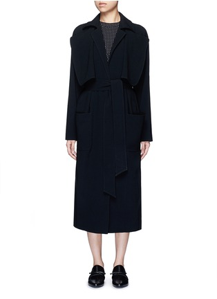 Main View - Click To Enlarge - Tibi - Soft crepe belted trench coat