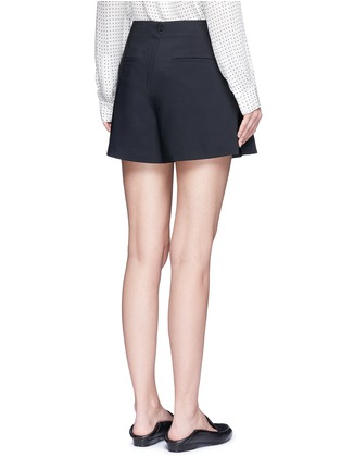 Back View - Click To Enlarge - Tibi - Tropical wool pleated skort