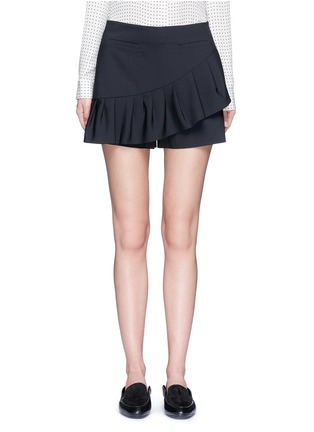 Main View - Click To Enlarge - Tibi - Tropical wool pleated skort