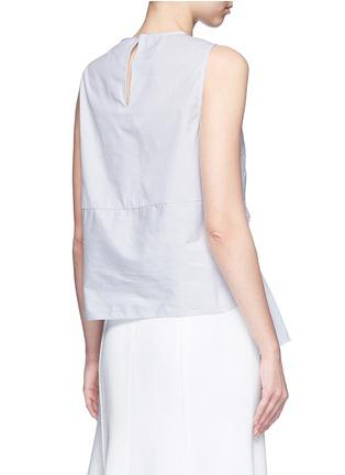Back View - Click To Enlarge - TIBI - Pinstripe poplin smocking sleeveless top