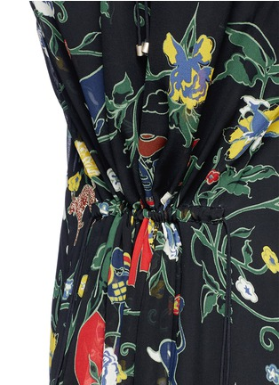 Detail View - Click To Enlarge - Tibi - 'Josephina' floral print silk chiffon dress