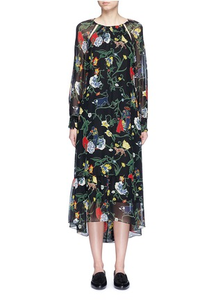 Main View - Click To Enlarge - Tibi - 'Josephina' floral print silk chiffon dress