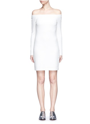 Main View - Click To Enlarge - TIBI - Textured off-shoulder dress