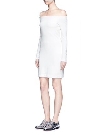 Figure View - Click To Enlarge - TIBI - Textured off-shoulder dress