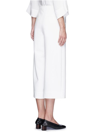 Back View - Click To Enlarge - Tibi - 'Anson' cropped wide leg sailor pants