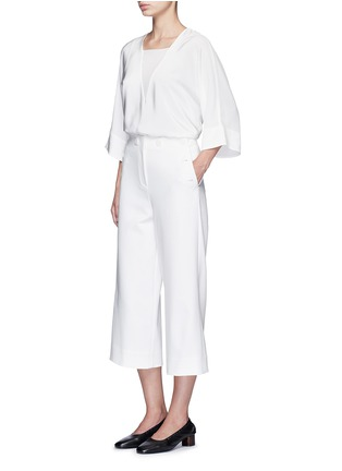 Figure View - Click To Enlarge - Tibi - 'Anson' cropped wide leg sailor pants