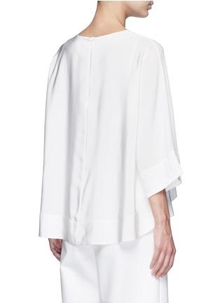 Back View - Click To Enlarge - Tibi - Dolman sleeve sheer V-neck silk top