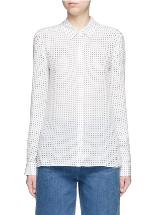 Detail View - Click To Enlarge - Tibi - 'Estrella' star print silk georgette blouse
