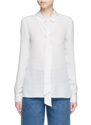 Main View - Click To Enlarge - Tibi - 'Estrella' star print silk georgette blouse