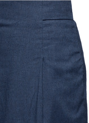 Detail View - Click To Enlarge - Tibi - Inverted pleat cotton twill culottes