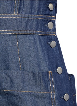 Detail View - Click To Enlarge - Tibi - 'Neo' washed cotton twill overalls