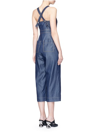 Back View - Click To Enlarge - Tibi - 'Neo' washed cotton twill overalls