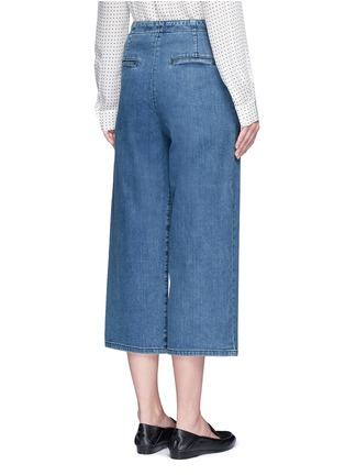Back View - Click To Enlarge - Tibi - Cropped wide leg denim sailor pants