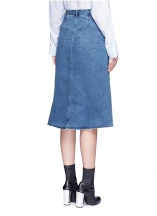 Back View - Click To Enlarge - Tibi - 'Marisol' embroidered floral denim skirt