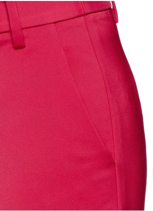 Detail View - Click To Enlarge - Tibi - Stretch faille cropped pants