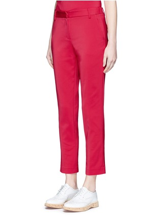 Front View - Click To Enlarge - Tibi - Stretch faille cropped pants