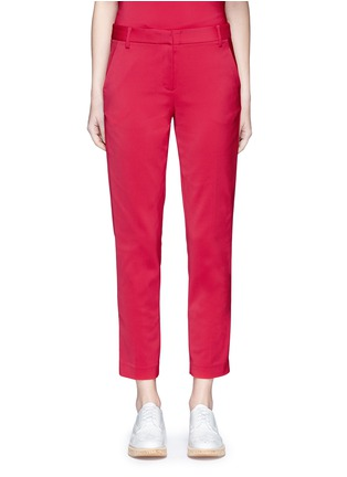 Main View - Click To Enlarge - Tibi - Stretch faille cropped pants