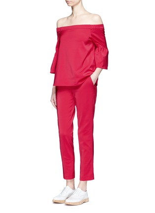 Figure View - Click To Enlarge - Tibi - Stretch faille cropped pants