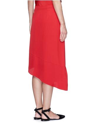 Back View - Click To Enlarge - Tibi - Asymmetric ruffled silk midi skirt