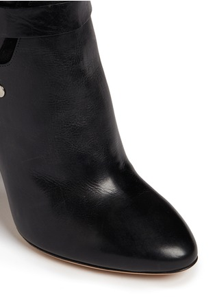 Detail View - Click To Enlarge - Isabel Marant - 'Redford' harness leather combo ankle boots
