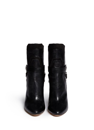 Figure View - Click To Enlarge - Isabel Marant - 'Redford' harness leather combo ankle boots