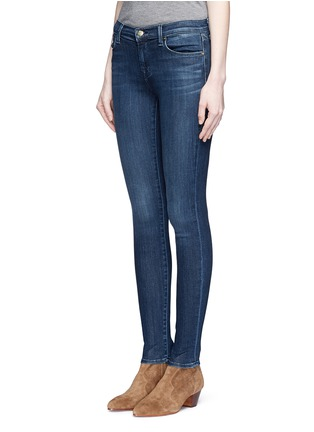 Front View - Click To Enlarge - J BRAND - 'Super Skinny' whiskered jeans
