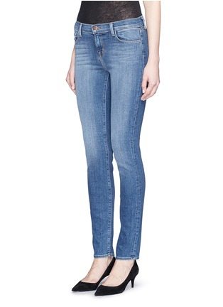 Front View - Click To Enlarge - J Brand - 'Skinny Leg' whiskered jeans
