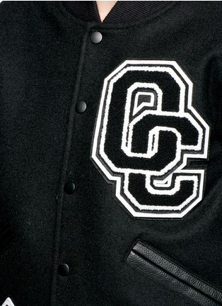 Detail View - Click To Enlarge - Opening Ceremony - 'OC' leather sleeve varsity jacket