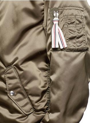 Detail View - Click To Enlarge - MAISON KITSUNÉ - Satin bomber jacket