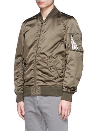 Front View - Click To Enlarge - MAISON KITSUNÉ - Satin bomber jacket