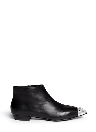 Main View - Click To Enlarge - Giuseppe Zanotti Design - Stud toe cap leather ankle boots