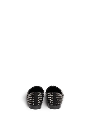 Back View - Click To Enlarge - Giuseppe Zanotti Design - Multi stud suede slip-ons