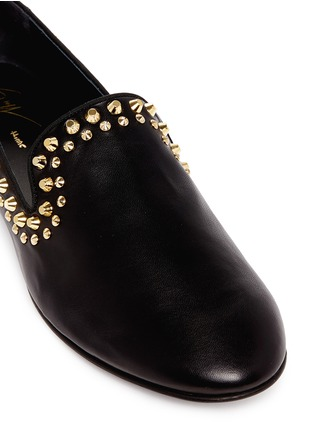 Detail View - Click To Enlarge - 73426 - 'Kevin' stud leather slip-ons