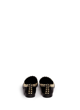 Back View - Click To Enlarge - 73426 - 'Kevin' stud leather slip-ons