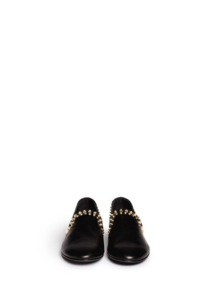 Figure View - Click To Enlarge - 73426 - 'Kevin' stud leather slip-ons