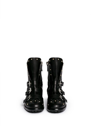 Figure View - Click To Enlarge - 73426 - 'Morrison' stud buckle leather boots
