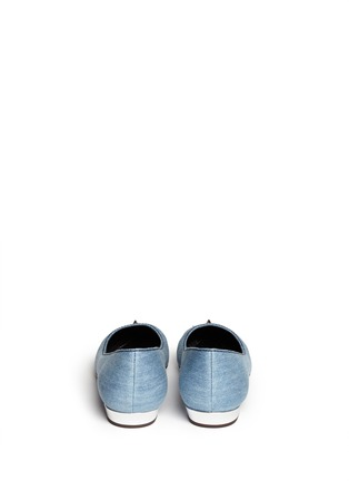 Back View - Click To Enlarge - 73426 - 'Yvette' spike stud toe cap denim flats
