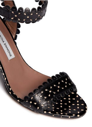 Detail View - Click To Enlarge - TABITHA SIMMONS - 'Leticia' perforated leather sandals
